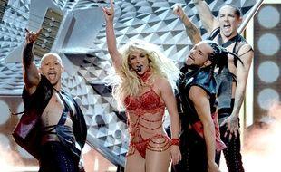 Britney Spears  sur la scène des Billboard Music Awards à la T-Mobile Arena de Las Vegas, le 22 mai 2016.