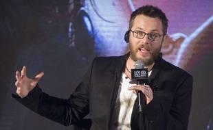 Le réalisateur Duncan Jones répond à des questions lors d'une rencontre avec la presse pour son film «Warcraft : Le commencement» à Pékin (Chine), le 1er juin 2016.