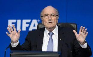 L'ex-président de la Fifa Sepp Blatter en conférence de presse, le 20 juillet 2015 à Zurich