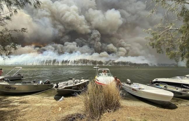 Une vue du lac Conjola en Australie, le 2 janvier 2020.