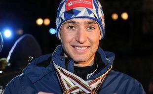 Le français Jason lamy-Chappuis, spécialiste de combiné nordique, le 1 mars 2013.