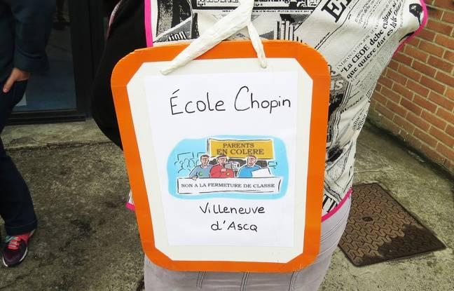 L'école Chopin de Villeneuve d'Ascq refuse la fermeture d'une classe pour la prochaine rentrée scolaire.