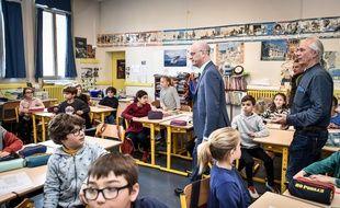 Jean-Michel Blanquer dans une classe.