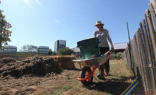 Une maraîchère va s'occuper des potages en permaculture de la ferme urbaine du Blosne.