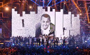 Le final de «Sur la route des Enfoirés» que la troupe a joué à Montpellier en janvier 2015.