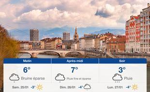 Météo Grenoble: Prévisions du vendredi 24 janvier 2020
