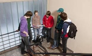 Un groupe de lycéens.