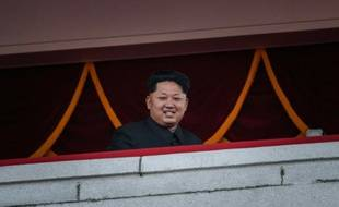 Le leader de la Corée du Nord Kim Jong-Un lors du 70e anniversaire de son parti à Pyongyang