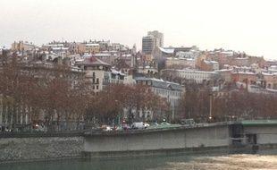 Les premiers flocons de l'hiver sont tombés sur Lyon le 26 novembre 2010.