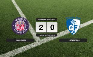 Ligue 2, 20ème journée: Succès 2-0 du TFC face à Grenoble