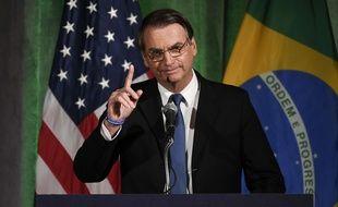 Jair Bolsonaro à la chambre de commerce de Washington, le 18 mars 2019.