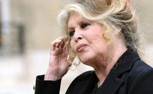 L'ancienne ?actrice française Brigitte Bardot quitte le Palais de l'Elysée, le 27 septembre 2007 à Paris