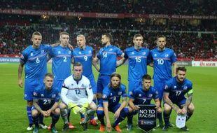 La sélection islandaise avant un match de qualification pour l'Euro-2016 face à la Turquie, le 13 ocotbre 2015 à Konya