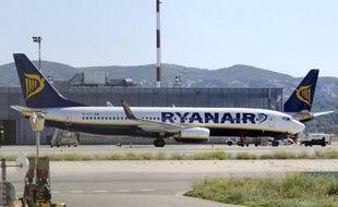 Un avion de la compagnie Ryanair sur le tarmac de l'aéroport Marseille-Provence à Marignane, le 28 septembre 2010