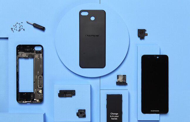 Le Fairphone 3+ fabriqué à partir de 40% de plastiques recyclés.