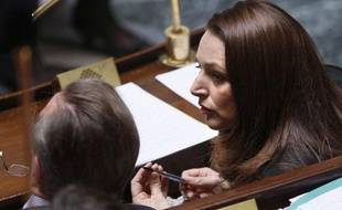 Valérie Boyer à l'Assemblée nationale le 15 avril 2008.