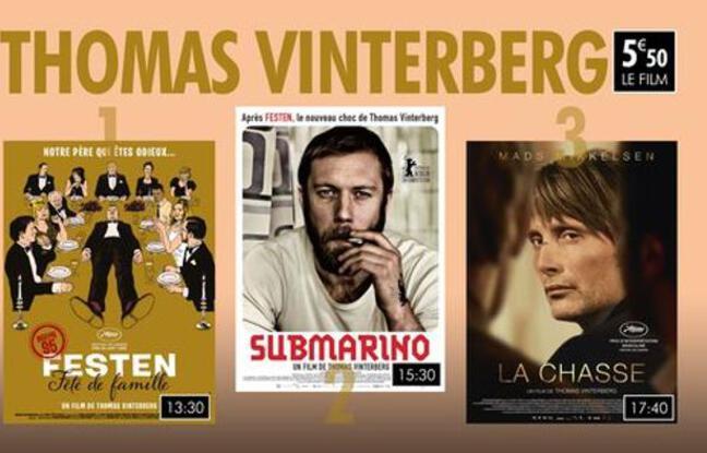 Affiches de trois films du réalisteur Thomas Vinterberg