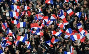 Des supporters français lors du match entre la France et l'Ecosse le 2 février 2015.