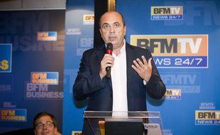 Hervé Béroud, directeur de l'information sur BFM TV, le 28 août 2013 à Paris.