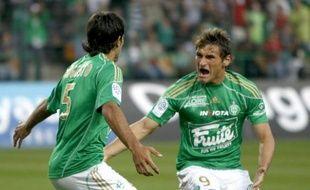 Les deux Argentins, Fernandez Augusto et Gonzalo Ruben Bergessio, ont enflammé la rencontre face à Bordeaux, le 3 octobre 2009
