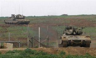 Dimanche, les chars israéliens se sont redéployés aux frontières, côté palestinien, afin de faire face à d'éventuelles attaques palestiniennes.
