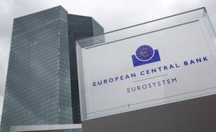 Le nouveau siège de la BCE le 24 février 2015 à Francfort, en Allemagne