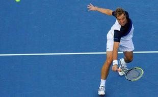 Richard Gasquet lors de sa demi-finale de l'US Open contre Rafael Nadal le 7 septembre 2013.