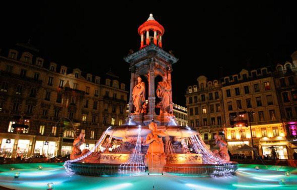 Illumination place des Jacobins (2e) lors de la Fête des Lumières 2010 à Lyon. – E. FOUDROT/ 20 MINUTES
