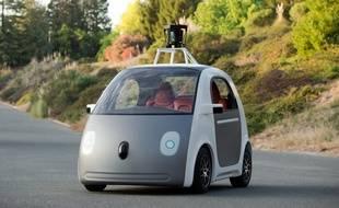 Un prototype de voiture autonome de Google, présenté le 27 mai 2014.