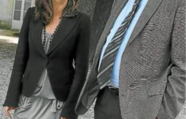 Johanna Rolland (1re adjointe) et Patrick Rimbert (maire).
