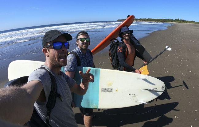 Le trio de surfeurs bretons de Lost in the swell arpente le monde à la recherche de la vague parfaite.