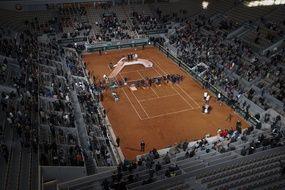 Le court Philippe Chatrier à Roland-Garros.
