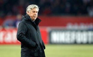 Carlo Ancelotti, l'entraineur du PSG le 19 février 2012.