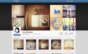 Un profil Instagram en version Web.