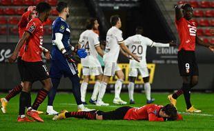 La tristesse des Rennais, battus vendredi soir sur leur terrain par les Girondins de Bordeaux.