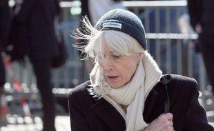 Françoise Hardy, en 2009, aux obsèques d'Alain Bashung, à Paris.