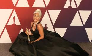 L'actrice et chanteuse Lady Gaga à la 91e cérémonie des Oscars