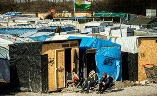 Le camp de réfugiés surnommé «jungle», le 19 février 2016, à Calais.