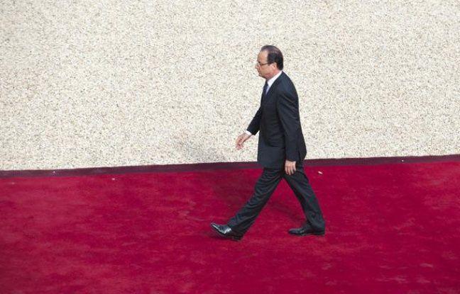 Lors de la passation de pouvoir entre Nicolas  Sarkozy et François Hollande le 15 mai 2012.