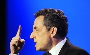 Les Sables d'Olonne, le 4 mai 2012. Nicolas Sarkozy lors d'un meeting de campagne pour la présidentielle de 2012.