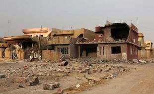 La ville de Bartella, à 15 km à l'est de Mossoul, en Irak, a été reprise par les forces gouvernementales  aux djihadistes de l'Etat islamique le 20 octobre 2016