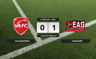 Ligue 2, 33ème journée: Guingamp vainqueur du VAFC 1 à 0 au Stade du Hainaut