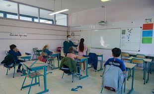 Journée de classe dans une école primaire de Mantes-la-Jolie, le 19 mai 2020.
