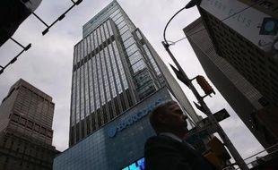 La tour Barclays, ancien siège de Lehman Brothers à Manhattan le 16 septembre 2013 à New York