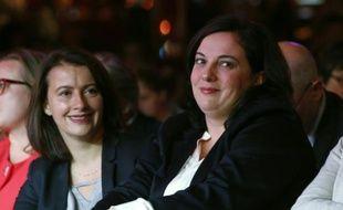 Cécile Duflot et Emmanuelle Cosse le 23 septembre 2015 à Paris