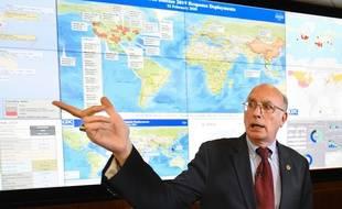 Le directeur adjoint des Centres de contrôle et de prévention des maladies, Jay Butler, fait le point sur le coronavirus, le 13 février à Washington.