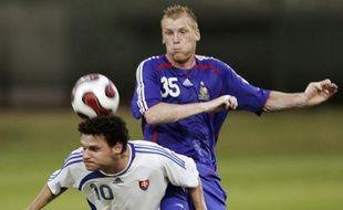 L'équipe de France A' a perdu 1-0 en Slovaquie, le 21 août 2007.