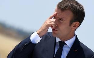 Emmanuel Macron à Istres, le 20 juillet 2017.