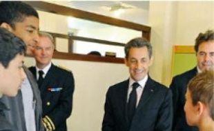 Le président Nicolas Sarkozy, hier à Bagnères-de-Luchon.
