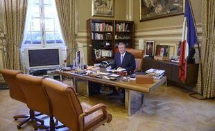 Le député-maire UMP de Levallois-Perret Patrick Balkany, dans son bureau à la mairie en 2013